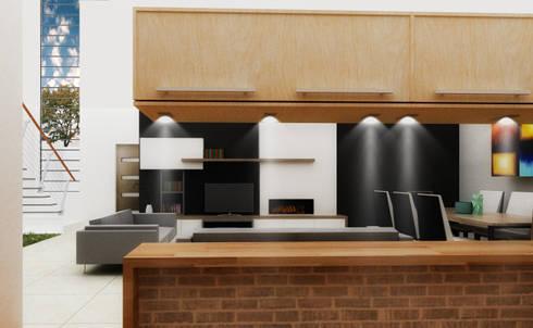 J-Gles: Cocinas de estilo minimalista por SANT1AGO arquitectura y diseño