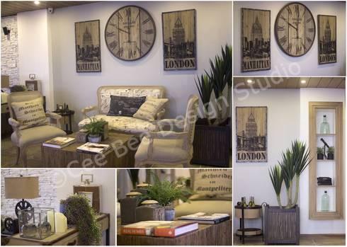 2 BHK Apartment in Kolkata: modern Living room by Cee Bee Design Studio