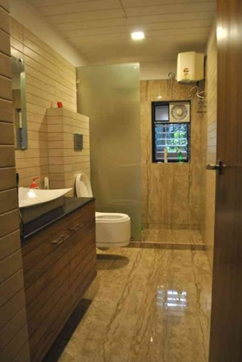 Vikas singh apartment : modern Bathroom by Arturo Interiors