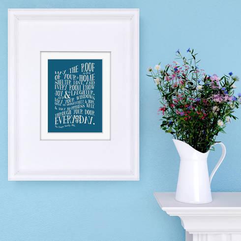 Bespoke New Home print:  Artwork by PhotoFairytales