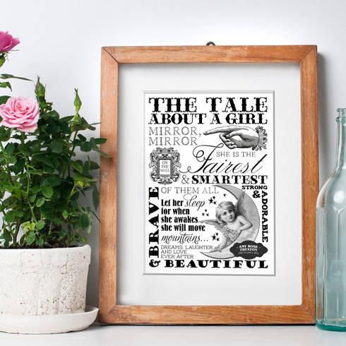 Bespoke Word Art print: eclectic Nursery/kid's room by PhotoFairytales