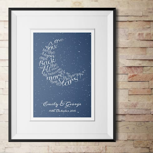Personalised Love Print - 'Written in the Stars':  Artwork by PhotoFairytales