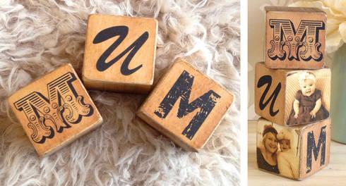 Personalised Wooden Photo Blocks:  Household by PhotoFairytales