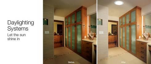 Antes e depois: Vestiário  por Solatube Portugal