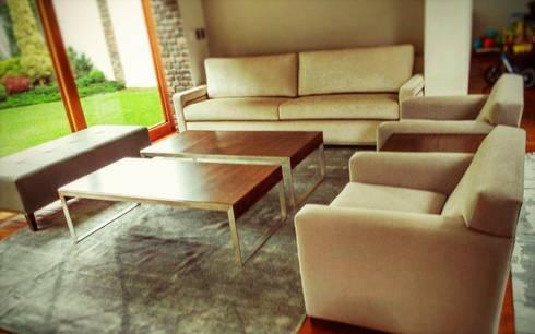 Amueblado de casa: Salas de estilo minimalista por Estilo en muebles