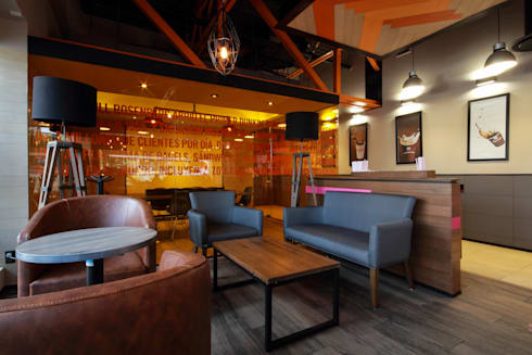 Dunkin' Donuts Tecamachalco: Salas de estilo moderno por Metro arquitectos