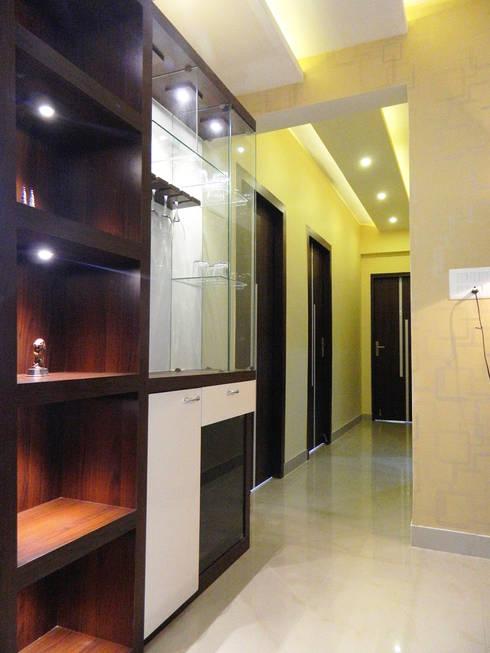 3 BHK Apartment in Bengaluru: modern Study/office by Cee Bee Design Studio