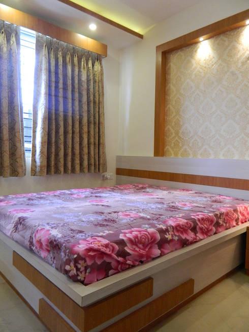 3 BHK Apartment in Bengaluru: modern Bedroom by Cee Bee Design Studio
