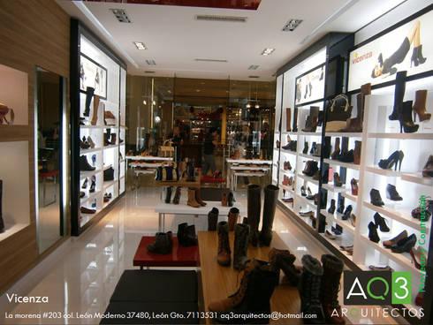 Vicenza: Espacios comerciales de estilo  por AQ3 Arquitectos