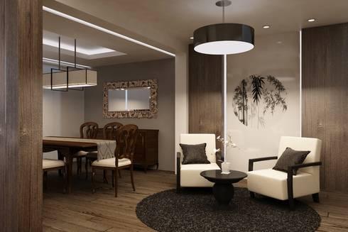 Bessie I: Salas de estilo asiático por Kuro Design Studio