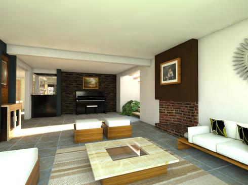 Estancia: Salas de estilo moderno por Arqternativa