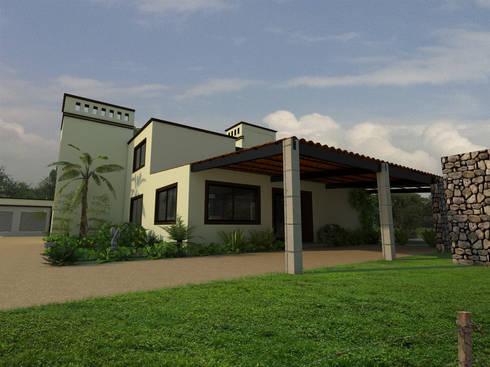 Fachada posterior: Casas de estilo clásico por Arqternativa