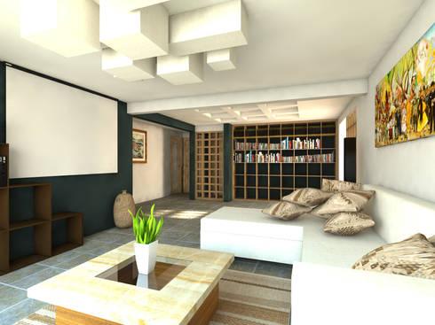 Sala de películas: Salas multimedia de estilo moderno por Arqternativa