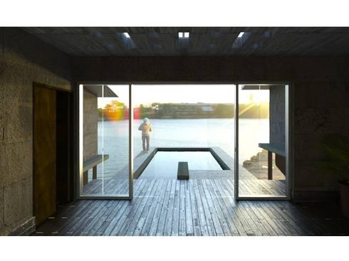 Vista al Exterior: Albercas de estilo moderno por FyA Arquitectos