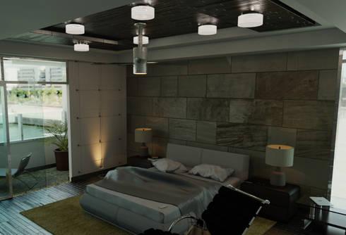 Habitación principal: Recámaras de estilo moderno por FyA Arquitectos