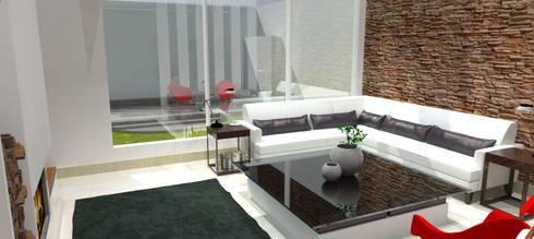 Sala : Salas de estilo moderno por FyA Arquitectos