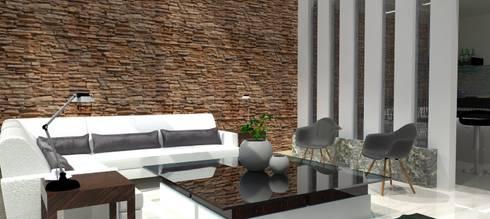 Sala: Salas de estilo moderno por FyA Arquitectos