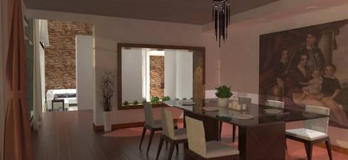 Casa GQJ: Comedores de estilo moderno por FyA Arquitectos