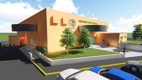 Centro Social Ferrocarrilero: Salas de estilo industrial por FyA Arquitectos