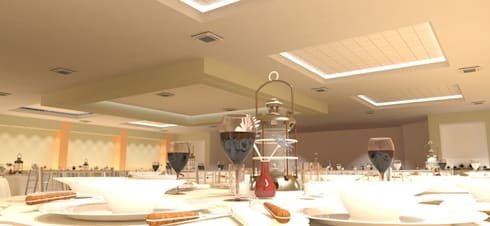 Centro Social Ferrocarrilero: Salas de estilo moderno por FyA Arquitectos