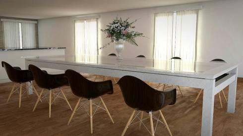 Prueba de Comedor Principal 2: Comedores de estilo moderno por FyA Arquitectos