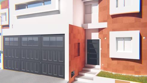 Fachada Casa Sr. Rubén.: Casas de estilo moderno por FyA Arquitectos