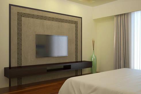 Bungalow Interior: asian Bedroom by Vaibhav Patel & Associates