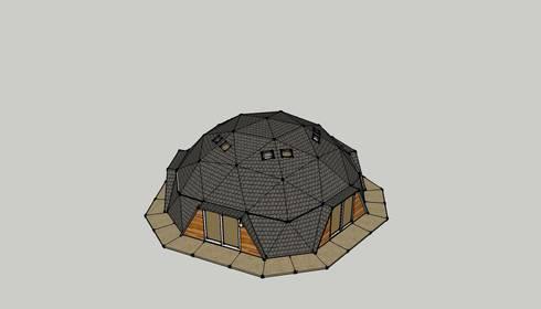 DOMO NEWEN: Casas de estilo moderno por smart domos
