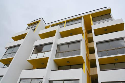 Edificio residencial Nueva las Rosas: Casas de estilo moderno por Materia prima arquitectos