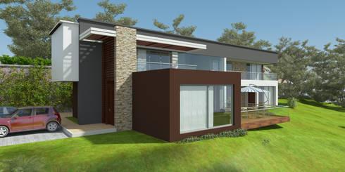 Casa ED: Casas de estilo moderno por John Robles Arquitectos