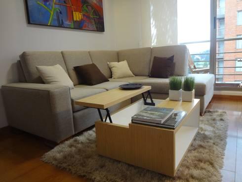 Apartamento Alcaparros Montanar: Sala multimedia de estilo  por John Robles Arquitectos