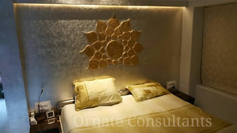 Luxurious Residence at Walkeshwar: modern Bedroom by Ornate Consultants