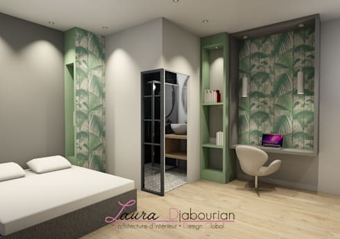 agencement d coration d 39 une suite parentale par laura djabourian architecture d 39 int rieur homify. Black Bedroom Furniture Sets. Home Design Ideas