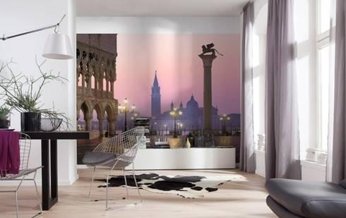 Papel de parede Wallpaper www.intense-mobiliario.com  SAN MARCO http://intense-mobiliario.com/pt/fotomurais/4715-fotomural-san-marco.html: Casa  por Intense mobiliário e interiores;