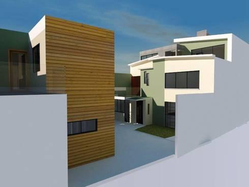 IRL-35: Casas de estilo moderno por Ingenieros y Arquitectos Continentes