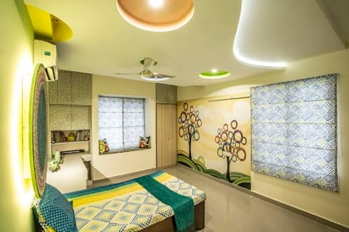 Ezhilagam: modern Bedroom by Spacestudiochennai