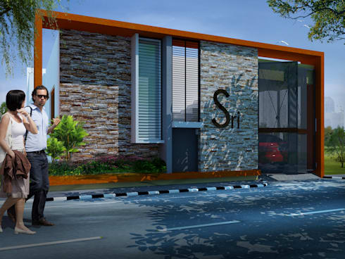 Front elevation, option 1:   by Lumous design Consultants