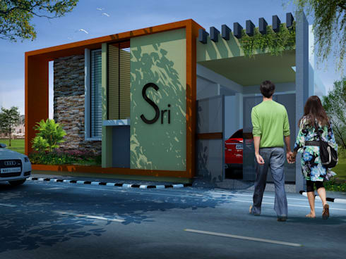 Houses at Club road, Anandpura, Bangalore:   by Lumous design Consultants