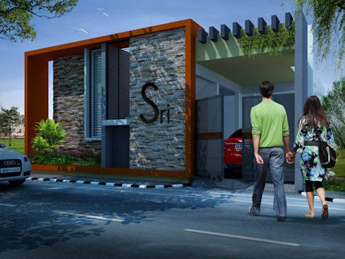 Front elevation, option 2:   by Lumous design Consultants