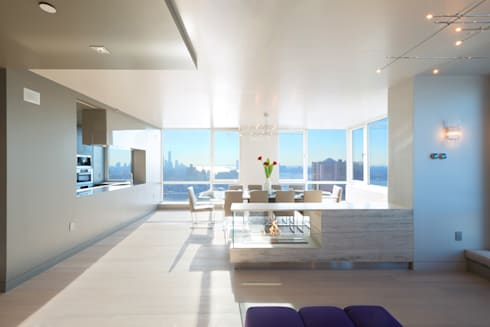 Luxury Apartment Combination: minimalistic Dining room by Andrew Mikhael Architect