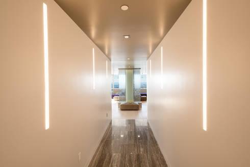 Luxury Apartment Combination:  Corridor, hallway by Andrew Mikhael Architect