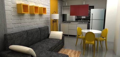 apartamento 50m2:  de estilo  por Elizabeth SJ