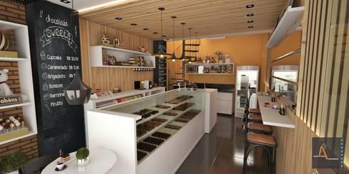 Reforma GC: Restaurantes de estilo  por Ao Cubo Arquitetura e Interiores
