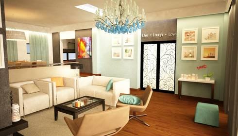 Apartamento Matosinhos: Salas de estar ecléticas por Decorando - Inner Spaces