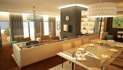 Apartamento Matosinhos: Salas de jantar ecléticas por Decorando - Inner Spaces