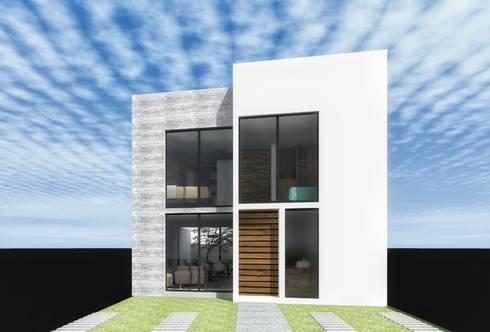 Prototipo casa 1: Casas de estilo moderno por PABELLON de Arquitectura