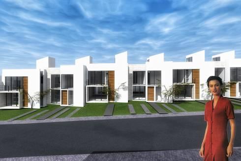 Conjunto de casas: Casas de estilo moderno por PABELLON de Arquitectura