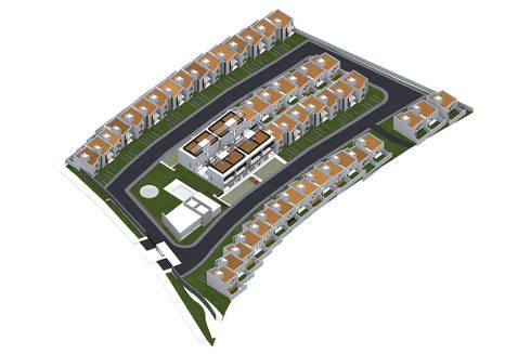 Conjunto: Casas de estilo moderno por PABELLON de Arquitectura