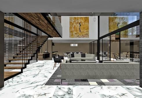 Sala doble altura:  de estilo  por PABELLON de Arquitectura