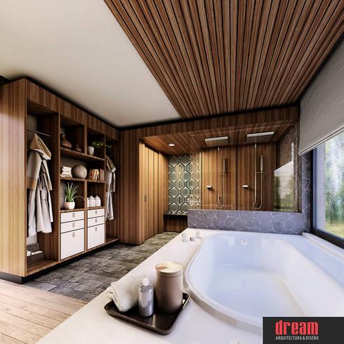 CASA CZN- SALA DE BAÑO: Baños de estilo  por Estudio Meraki